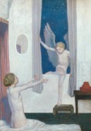 Cupid Visit Painting for Sale