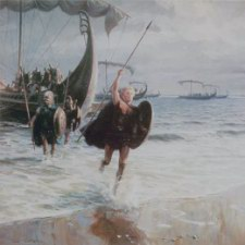 The Hellespont behind him 22 year old Alexander splashes ashore onto Asian soil.jpg